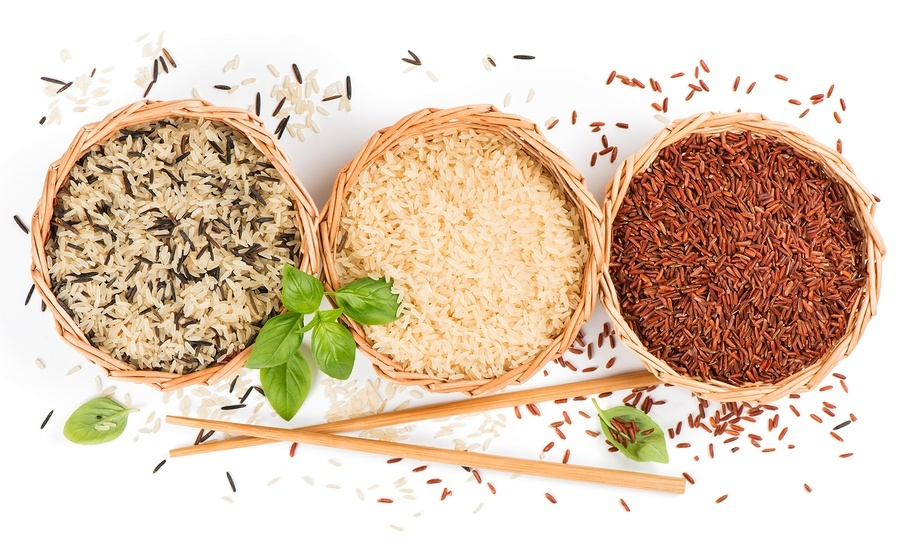 Mixed Of Rice, View From Above