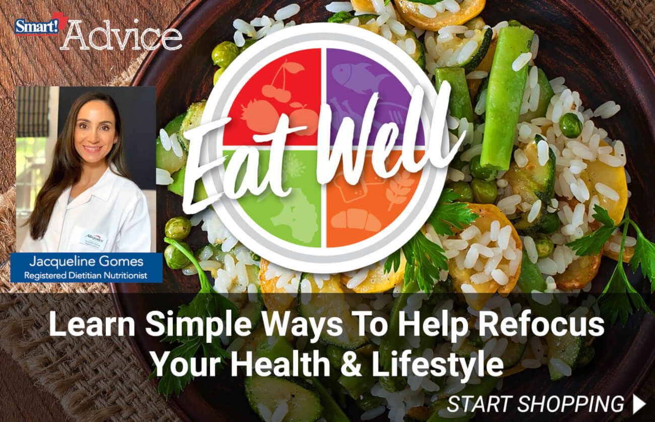 Eat Well. Learn simple ways to help refocus your health & lifestyle.